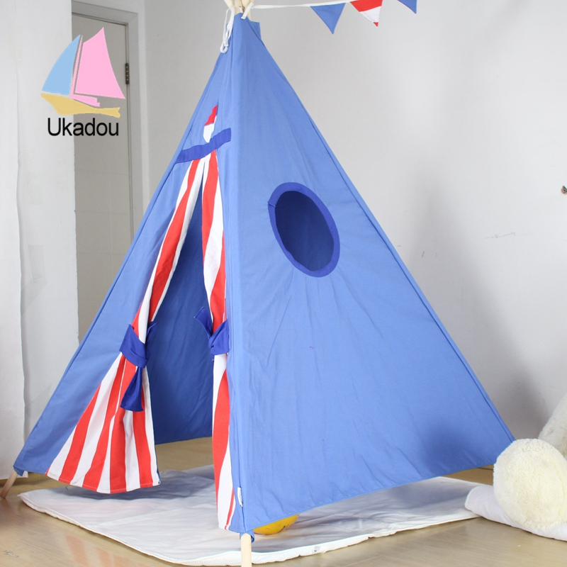 teepee & 100%cotton canvas kid tent toy house indian tent kids teepee ...